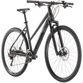 Cube Cross SL Hybridcykel Trapez grå